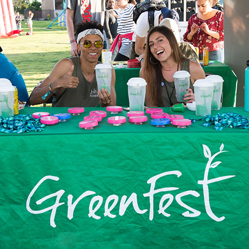 GreenFest tabling at Farmer's Market