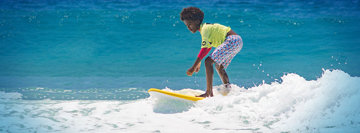 The Watersports Camp: Boy surfing