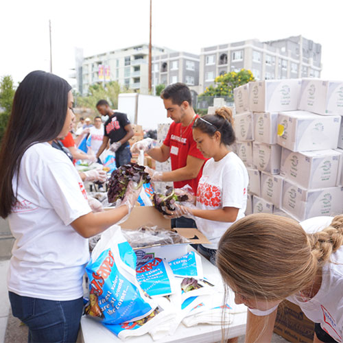 Scene from Aztec Rock Hunger Event