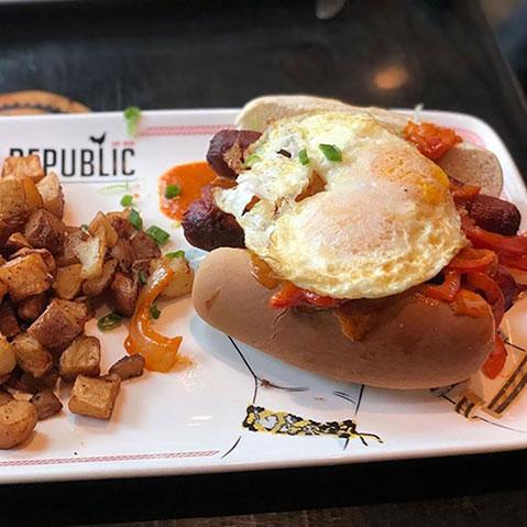 Breakfast Hot Dogs from Breakfast Republic