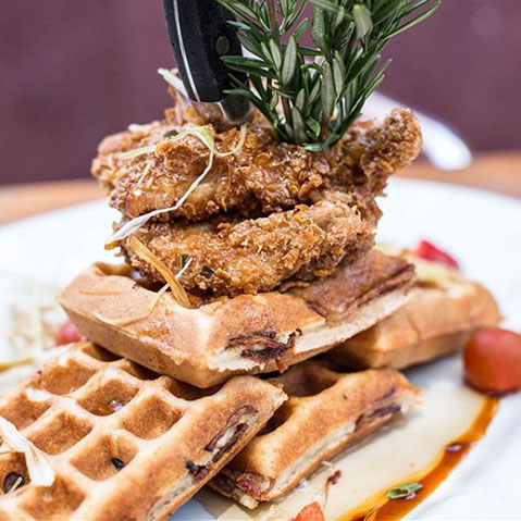 Waffles from Hash House A Go Go