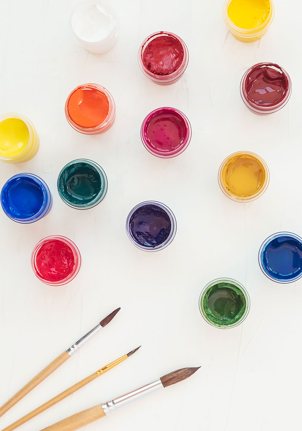 variety of paintbrushes and paint?2020-10-22